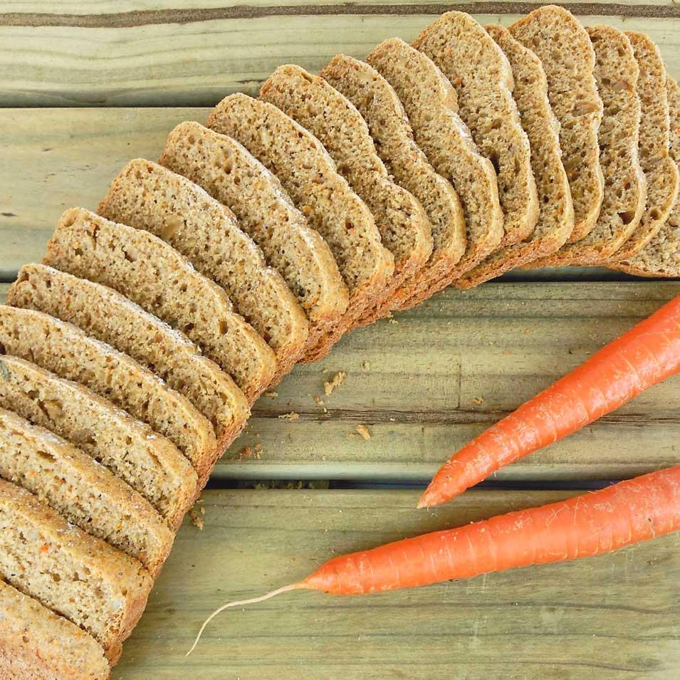 pan de zanahoria integral