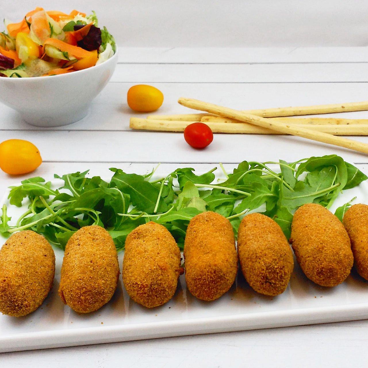 Croquetas de soja y ceps