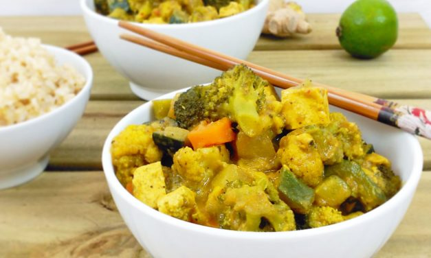 Curry de verduras y tofu