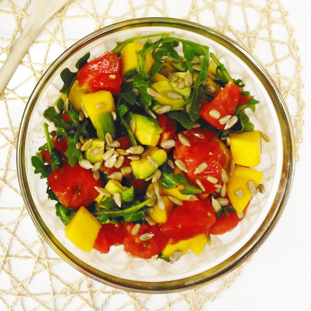 Ensalada de mango y tomate
