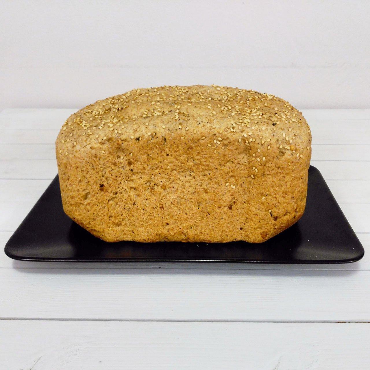 Pan de olivas verdes a las finas hierbas (panificadora)