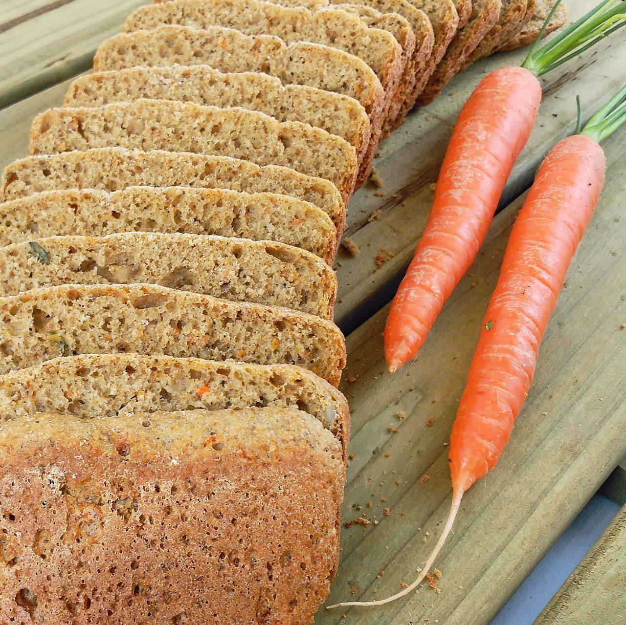 Pan integral de zanahoria (en Panificadora)