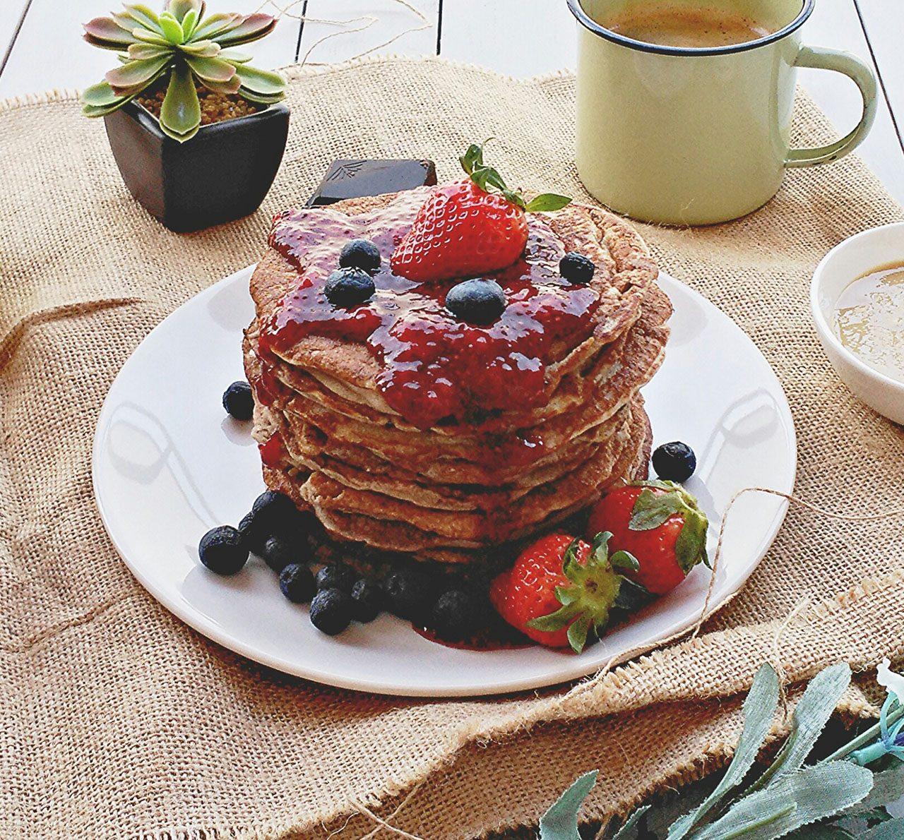 Pancakes de trigo sarraceno especiados