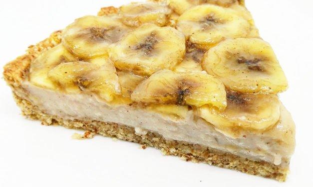 Tartaleta de avena, cacahuete y plátano
