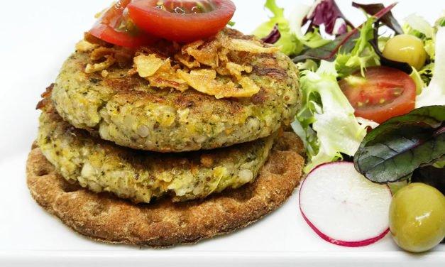 Mini burguers veganas de trigo sarraceno