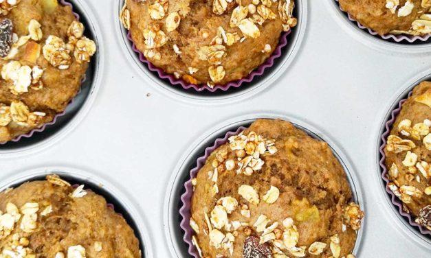 Muffins veganos de espelta