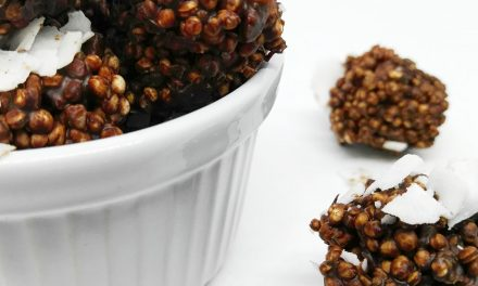 Bombones veganos de quinoa y chocolate