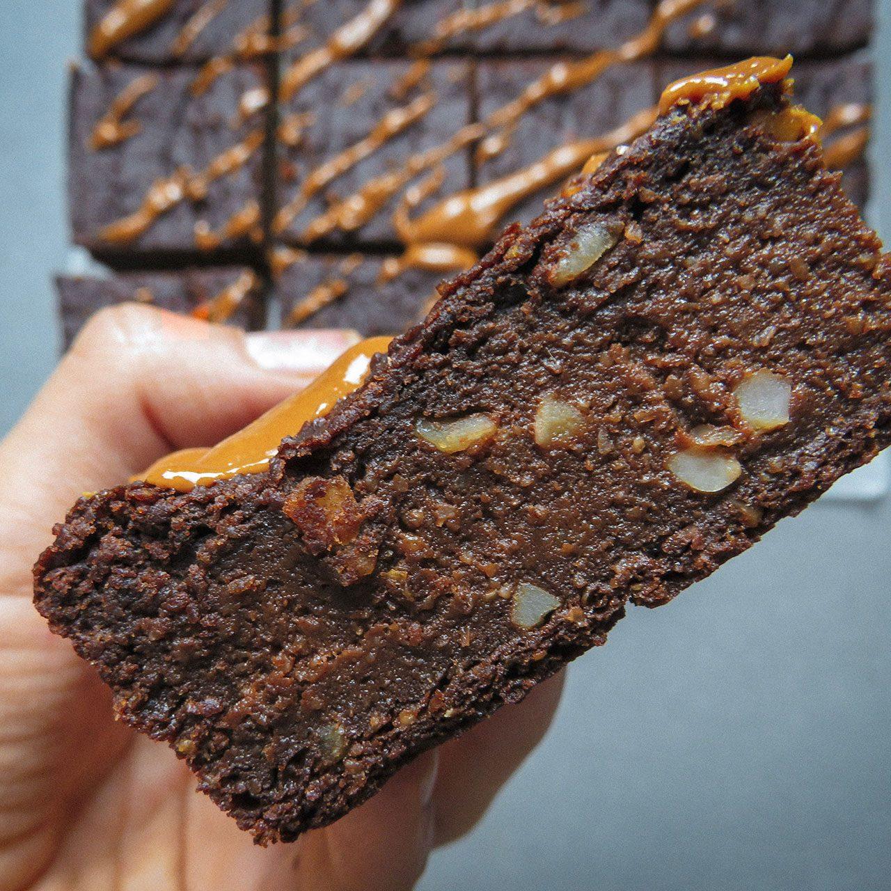 Brownie de boniato y cacahuete