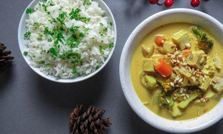 Curry de tofu y verduras