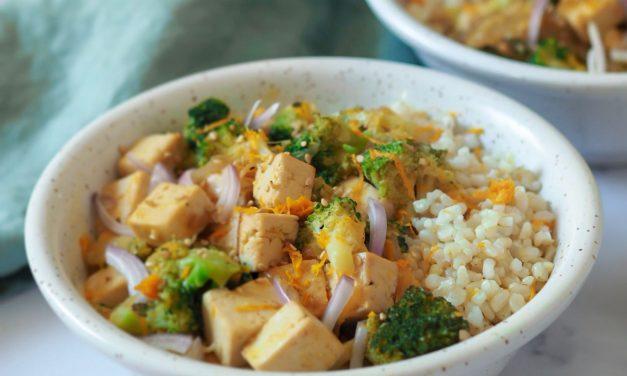 Tofu a la naranja