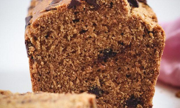 Bizcocho de gofio de espelta con chocolate