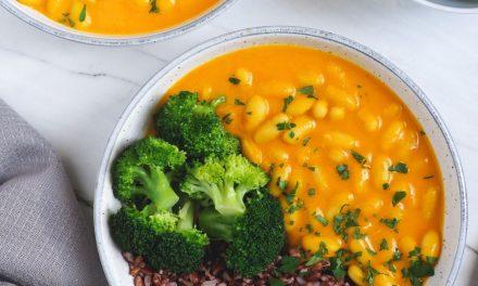 Guiso rápido de alubias y verduras