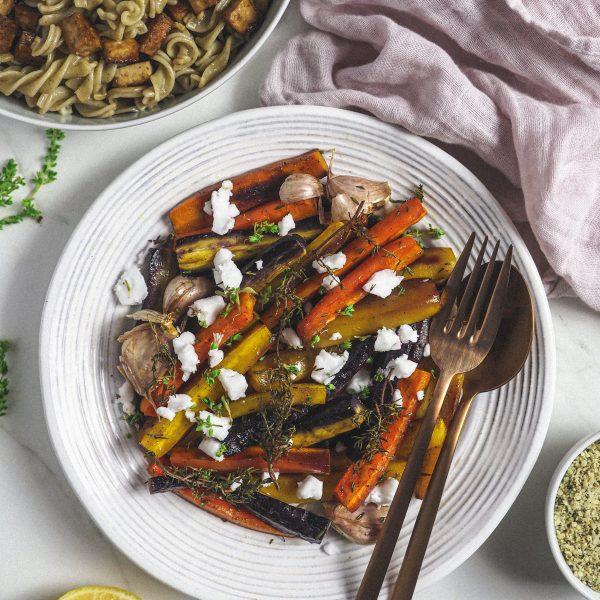 Zanahorias de colores al horno