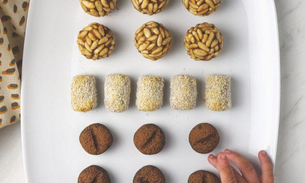 Panellets veganos y sin azúcar